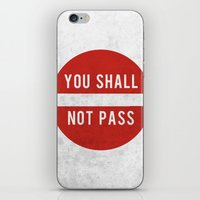 lotr iPhone & iPod Skins featuring you shall not pass by jerbing