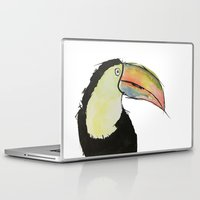 toucan Laptop & iPad Skins featuring Toucan by Adele Manuti