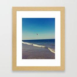 Hilton Head Beach In Savannah, Georgia Framed Art Print