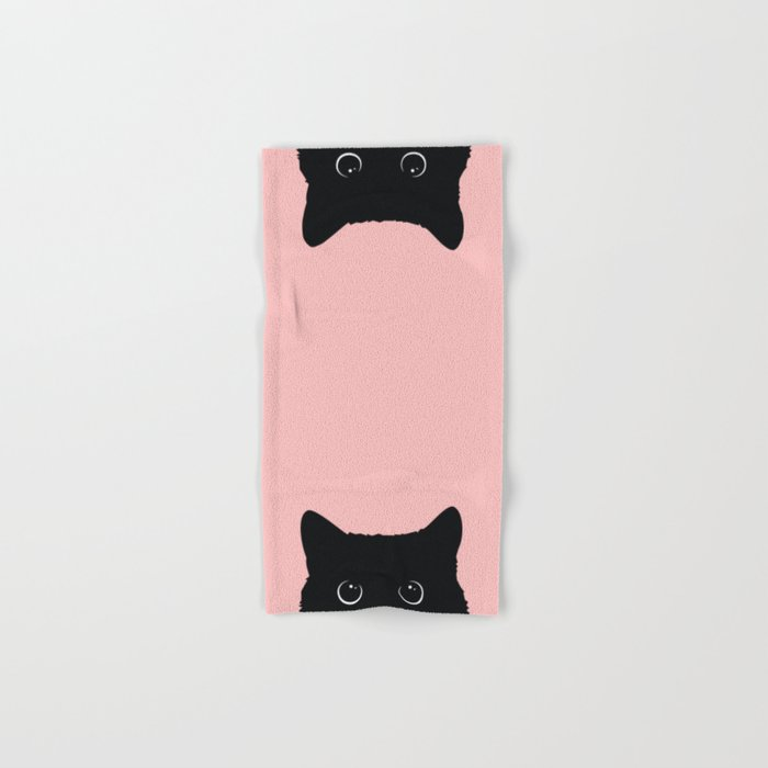 Black Cat Hand & Bath Towel