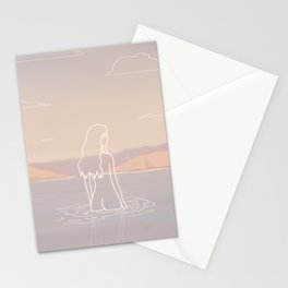 Calm Girl in the Water Stationery Cards
