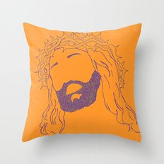 Holy Jesus  Throw Pillow