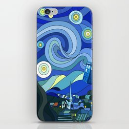 Tardis Art Starry Night iPhone Skin