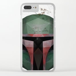 Boba Fett Low Poly Clear iPhone Case