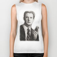 dale cooper Biker Tanks featuring TWIN PEAKS - AGENT COOPER by William Wong