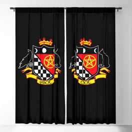 Cabot Crest Color/Black Blackout Curtain