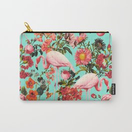 Floral and Flemingo IV Pattern Carry-All Pouch