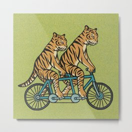 Tiger Tandem Metal Print