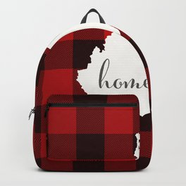 West Virginia is Home - Buffalo Check Plaid Backpack