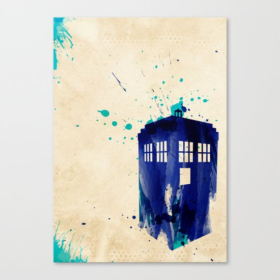 Doctor Who TARDIS Rustic Canvas Print