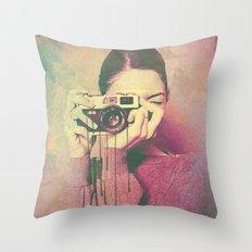 P Women Throw Pillow