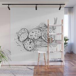 American Oystercatcher nest Wall Mural
