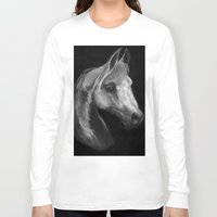 arab Long Sleeve T-shirts featuring Arab horse portrait by Mindgoop