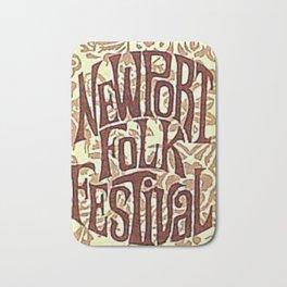 1967 Newport Folk Festival Handbill Program Bath Mat