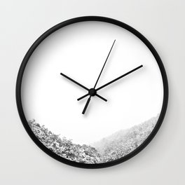 Snowy valley Wall Clock