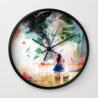 kansas Wall Clocks featuring Not in Kansas Anymore by Travis Clarke