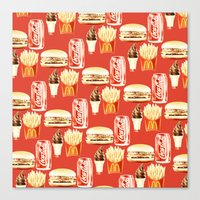 junk food Canvas Prints featuring Junk Food by popsicledonut