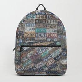 Vintage USA License Plates Backpack