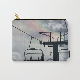 Ski Lift Rainbow Sky \\ The Mountain Sun Rays \\ Spring Skiing Colorado Winter Snow Sports Carry-All Pouch