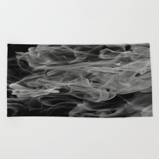Whispers - Black and white abstract Beach Towel