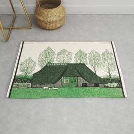 Julie de Graag - Farmhouse with thatched roof Rug