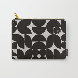 Black & White Mid Century Modern Pattern Carry-All Pouch