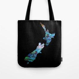 NEW ZEALAND MAP SIMPLE PAUA Tote Bag