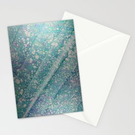 Waves of Time Water Marbling Stationery Cards