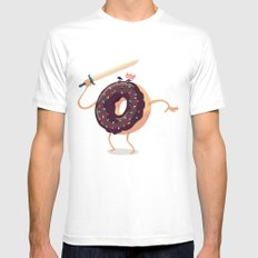 Baked to Rule MEDIUM Mens Fitted Tee White