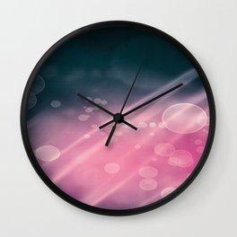 Night Party Bokeh Wall Clock