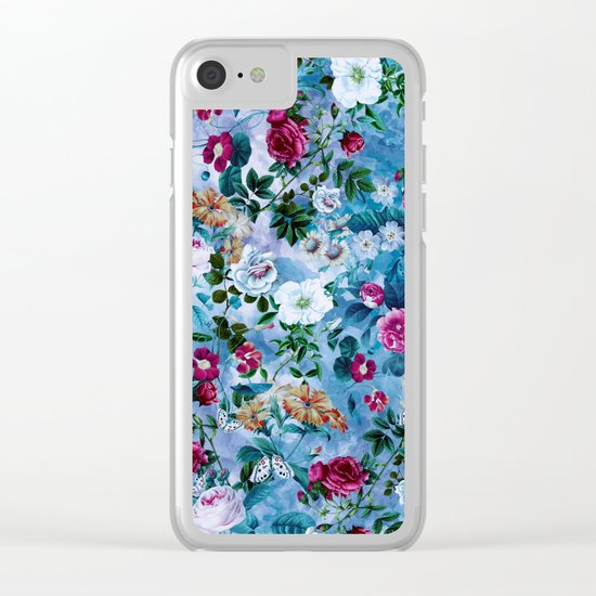 Blue Heaven Clear iPhone Case