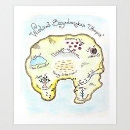 "Wisława Szymborska's ""Utopia"" (Map by Maria Popova) Art Print"