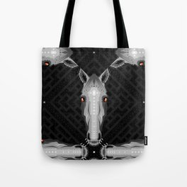 Horse Pattern - Black version Tote Bag