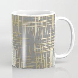 Crosshatch Grey Coffee Mug