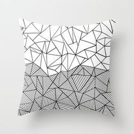 Ab Half n Half Throw Pillow