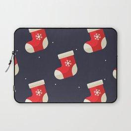 Red Christmas Stocking Pattern Laptop Sleeve