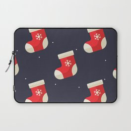 Red Christmas Stocking Pattern Laptop Sleeve
