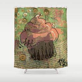 Golden Buttons Shower Curtain