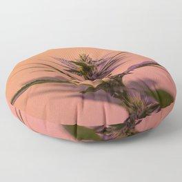 Macro cannabis kush photo Floor Pillow