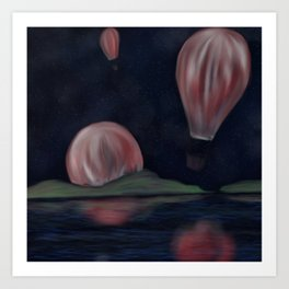Balloons in Space Art Print