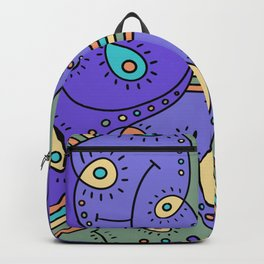 Abstracted Peacock Backpack