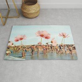 Vintage Flower Beach Rug