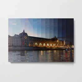 Musee d'Orsay Day to Night Timeslice - Paris Metal Print