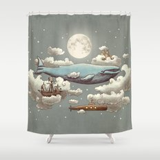 Ocean Meets Sky (original) Shower Curtain