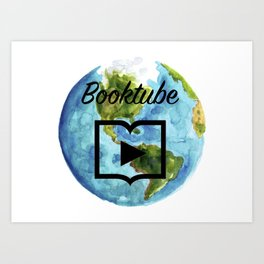 Booktube World Art Print