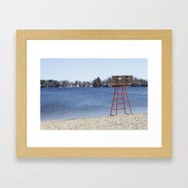 Orangey Beach Framed Art Print