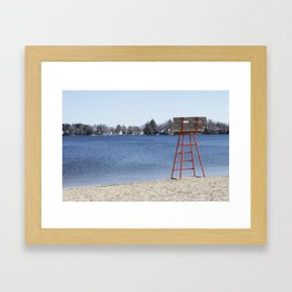 Orangey Beach Framed Art Print