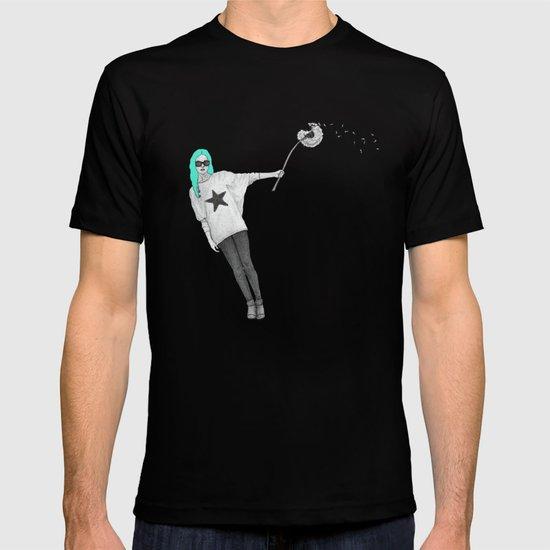 Girl with dandelion T-shirt
