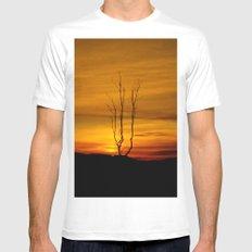 Lone tree sunset Mens Fitted Tee MEDIUM White