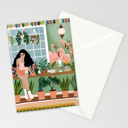 lazy weekend Stationery Cards